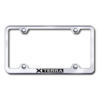 Autogold® - Laser Etched Xterra Logo on Wide Body Chrome Metal License Frame