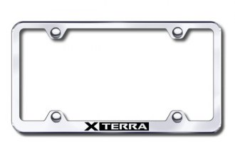 Autogold® - Laser Etched Xterra Logo on Wide Body Chrome Metal Frame