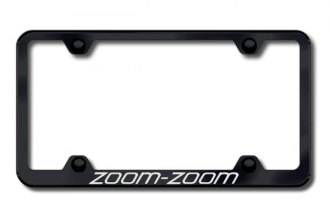 Autogold® - Laser Etched Zoom Zoom Logo on Wide Body Black Frame