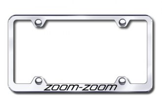 Autogold® - Laser Etched Zoom Zoom Logo on Chrome Metal Frame