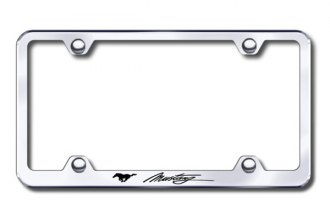Autogold® - Laser Etched Mustang Script Logo on Chrome Frame