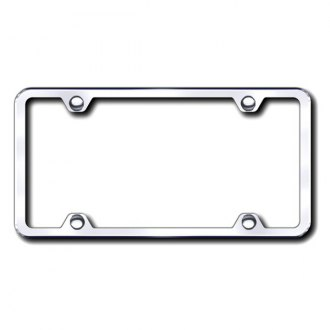 Autogold® - Thin 4-Hole on Chrome ABS License Plate Frame