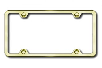 Autogold® - Thin 4-Hole on Gold ABS License Plate Frame