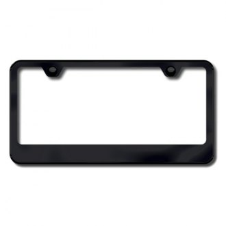 Autogold® - Thin Wide Bottom on Black ABS License Plate Frame