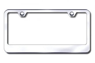 Autogold® - Thin Wide Bottom on Chrome ABS License Plate Frame