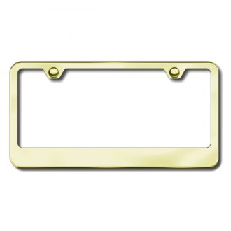 Autogold® - Thin Wide Bottom on Gold ABS License Plate Frame