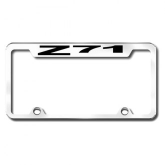 Autogold® - Truck Chrome License Plate Frame with Laser Etched Z71 Logo