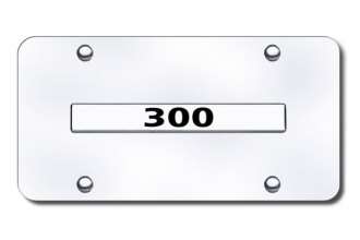 Autogold® - 300 Logo on Chrome License Plate