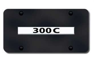 Autogold® - 300C Logo on Black License Plate