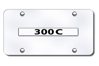Autogold® - 300C Logo on Chrome License Plate