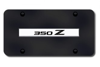 Autogold® - 350Z Logo on Black License Plate