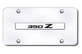 Autogold® - Tiburon Logo on Chrome License Plate