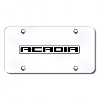 Autogold® - Acadia Logo on Chrome License Plate