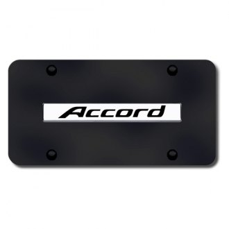 Autogold® - Accord Name Logo on Black License Plate