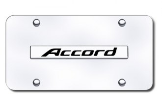Autogold® - Accord Name Logo on Chrome License Plate