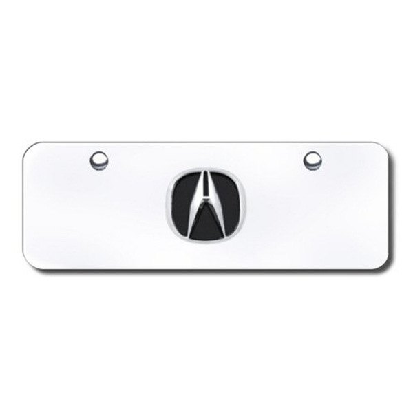 Autogold® - Acura Chrome Logo on Chrome Mini Size License Plate