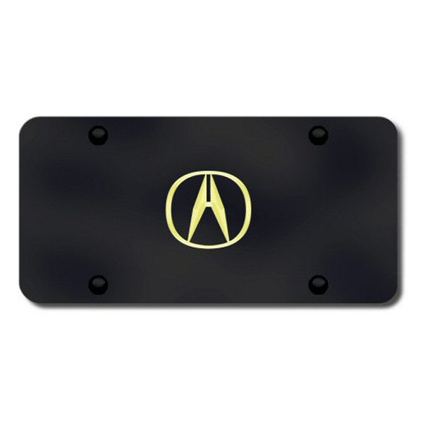 Autogold® - Gold Acura Logo on Black License Plate