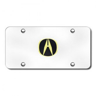Autogold® - Gold Acura Logo on Chrome License Plate