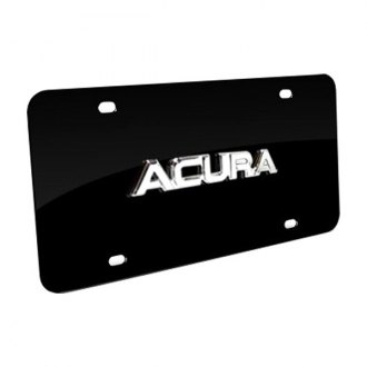 Autogold® - Acura Name Name on Black License Plate