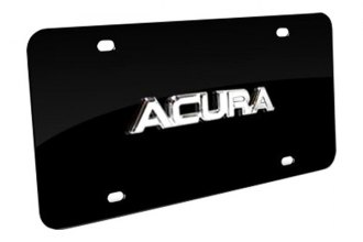 Autogold® - Acura Name Logo on Black License Plate