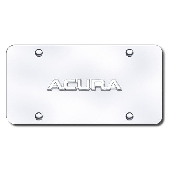 Autogold® - Acura Name Logo on Chrome License Plate