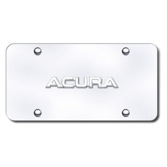 Autogold® - Acura Name Name on Chrome License Plate