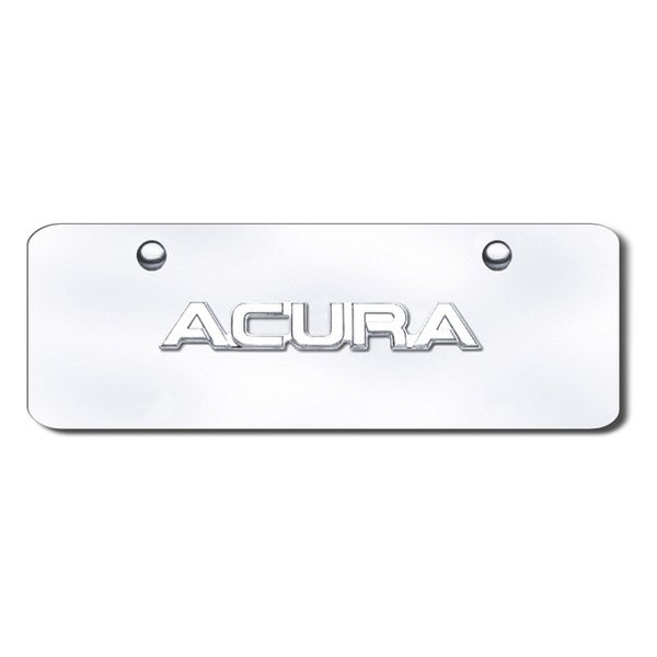 Autogold® - Acura Name Logo on Chrome Mini Size License Plate