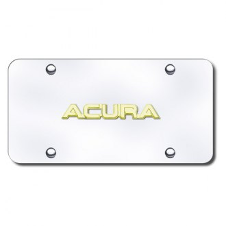 Autogold® - Gold Acura Name Name on Chrome License Plate