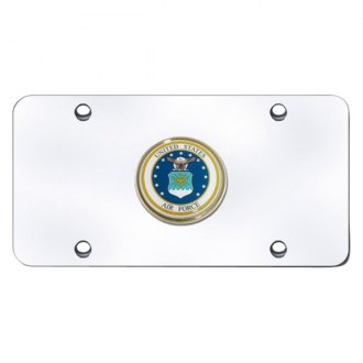 Autogold® - Air Force Logo on Chrome License Plate