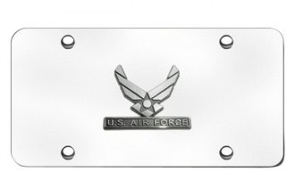 Autogold® - Air Force Wings on Chrome License Plate