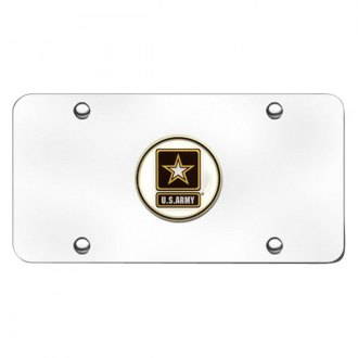 Autogold® - Army Logo on Chrome License Plate
