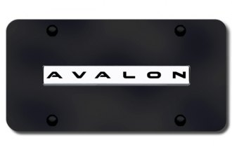 Autogold® - Avalon Name Logo on Black License Plate