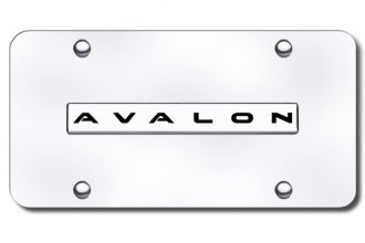 Autogold® - Avalon Name Logo on Chrome License Plate