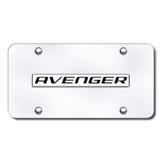 Autogold® - Avenger Logo on Chrome License Plate