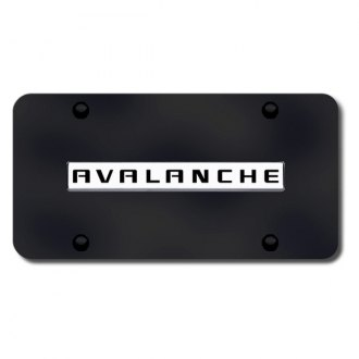 Autogold® - Avalanche Logo on Black License Plate