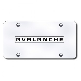 Autogold® - Avalanche Logo on Chrome License Plate