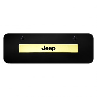 Autogold® - 3D Name Black License Plates Semi Universal