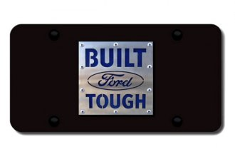 Autogold® - Built Ford Tough Logo on Black License Plate