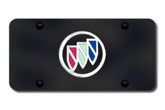 Autogold® - Buick Chrome Logo on Black License Plate