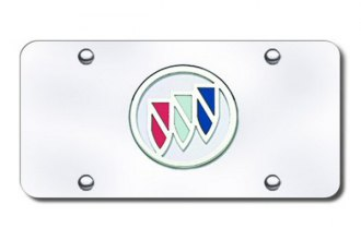 Autogold® - Buick Chrome Logo on Chrome License Plate