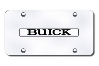 Autogold® BUI.N.CC - Buick Name Logo on Chrome License Plate