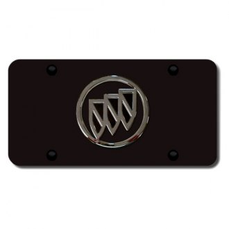 Autogold® - Buick Logo on Black License Plate