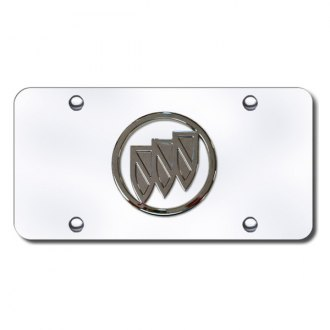 Autogold® - Buick Logo on Chrome License Plate