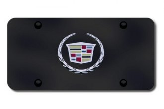 Autogold® - Cadillac New Logo on Black License Plate