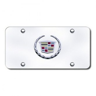 Autogold® - Cadillac Chrome New Logo on Chrome License Plate