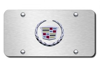 Autogold® - Cadillac Chrome and Brushed New Logo on Chrome License Plate