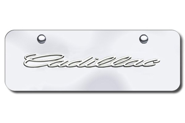 Autogold® - Cadillac Name Logo on Chrome Mini Size License Plate