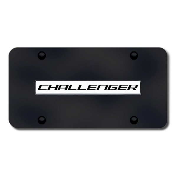 Autogold® - Challenger Logo on Black License Plate