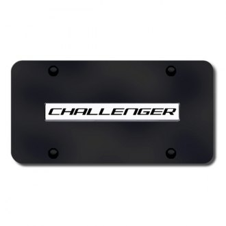 Autogold® - Challenger Name on Black License Plate