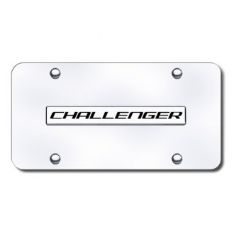 Autogold® - Challenger Name on Chrome License Plate